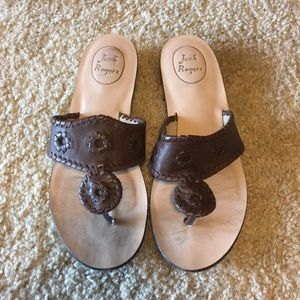 GUC Jack Rogers Brown Leather Sandals